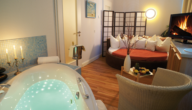 Der Private Spa des Wellnesshotels auf Usedom
